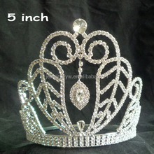 Real diamond bridal crown,flower pageant tiara