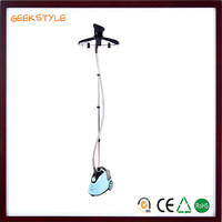 2016 most popular home appliance vertical double pole standing colorful 2000w garment steamer