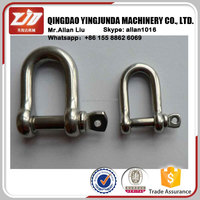stainless steel d shape shackle