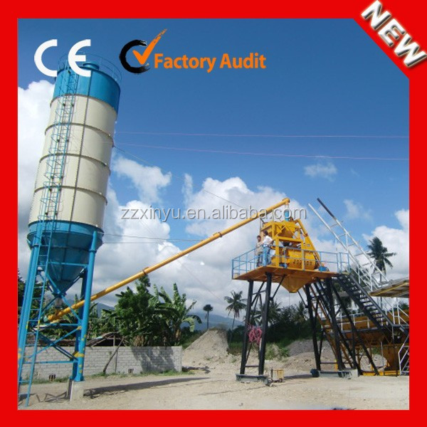 2015 Xinyu 25m3/h concrete batching plant process flow