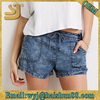 Hot sale teen girl overseas new branded summer shorts sets, girl's summer shorts