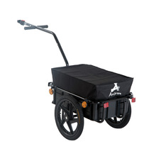 Double Wheel Internal Frame Enclosed Bicycle Cargo Trailer - Black