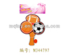 football wood paddle ball game toy for children