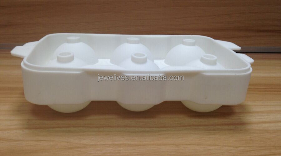 New promotional gift ideas silicone sphere 6 ice ball tray