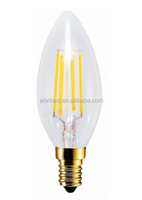 Retro Edison Ra>80 3W Dimmable E12 Warm White LED Filament Candle Bulb Lamps