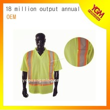 Colorful sécurité luminescente t-shirt de manches courtes