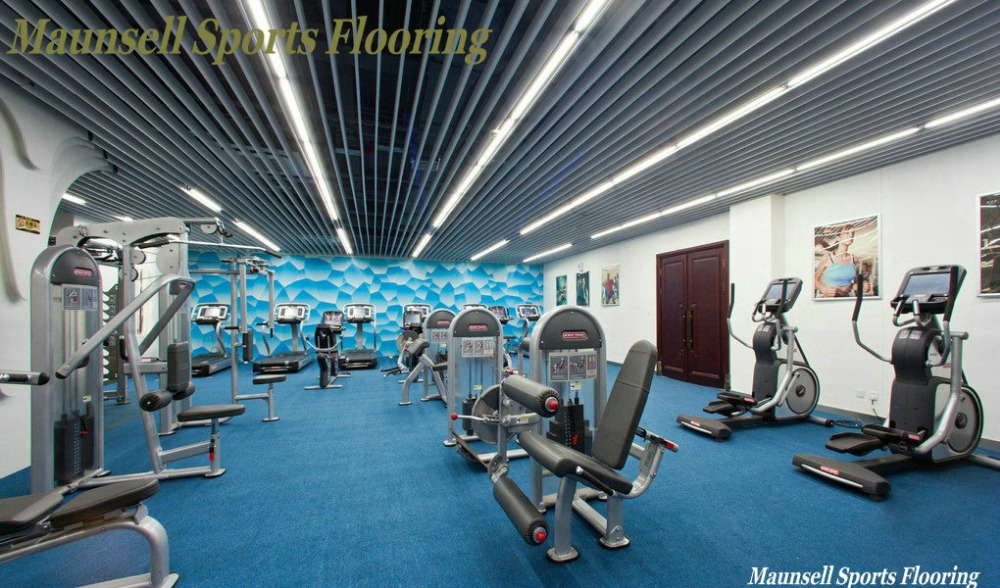 Gym and sports Center Rubber flooring in rolls/tile/interlock mode
