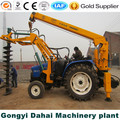 2015 new type wheeled hydraulic pile driver with crane and screw drill