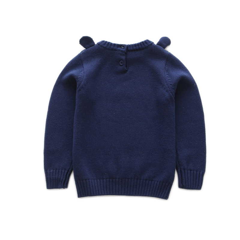 S52859A High Quality Knitted Funny Children Sweater with Bear