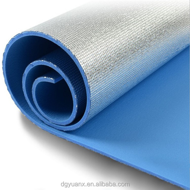 high quality custom colorful flooring underlayment foam with aluminum foil