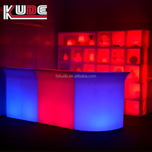 2017 portable design plastic led bar counter/ plastic lighted furniture