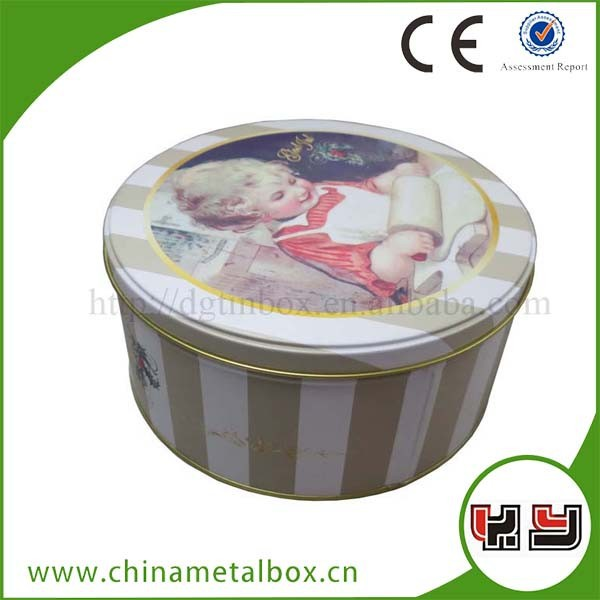 Intertek food grade Christmas cake tin cookie can