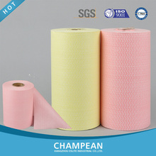 Soft Feature Spunlace Nonwoven Kitchen Cleaning Towels in Jumbo Roll