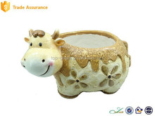 Low Price Mgo Cow Planter Garden Flower Pot