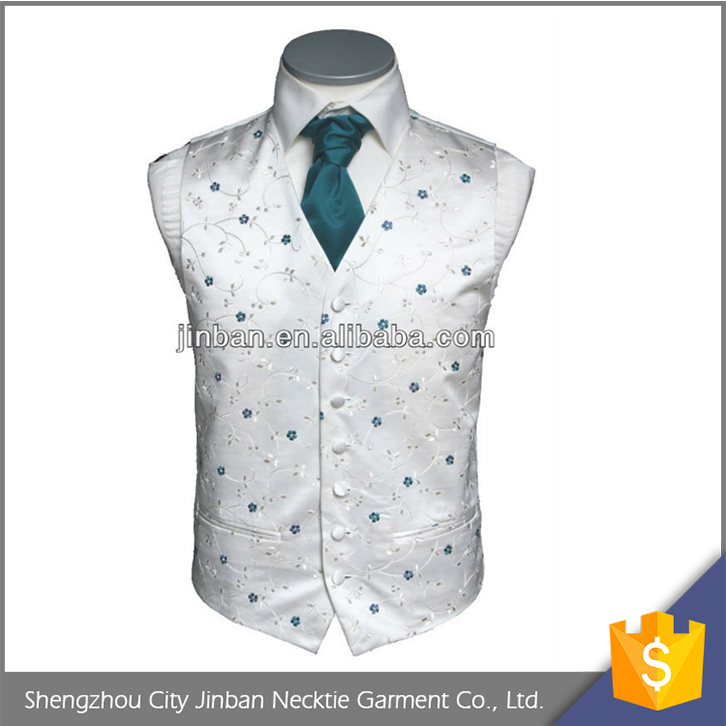 Personalized mens fashion wedding teal waistcoat for party