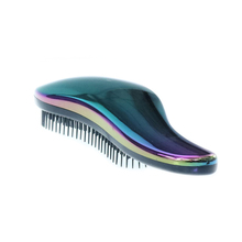 Factory price custom plating Glitter detangle massage hair brush fashion design shampoo comb