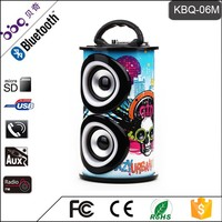 BBQ KBQ-06M 10W 1200mAh CE Certificate MP3 Music Portable Wireless Surround Sound Speakers