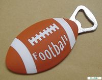 individual design cool rugby mode soft pvc custom bottle opener keychain