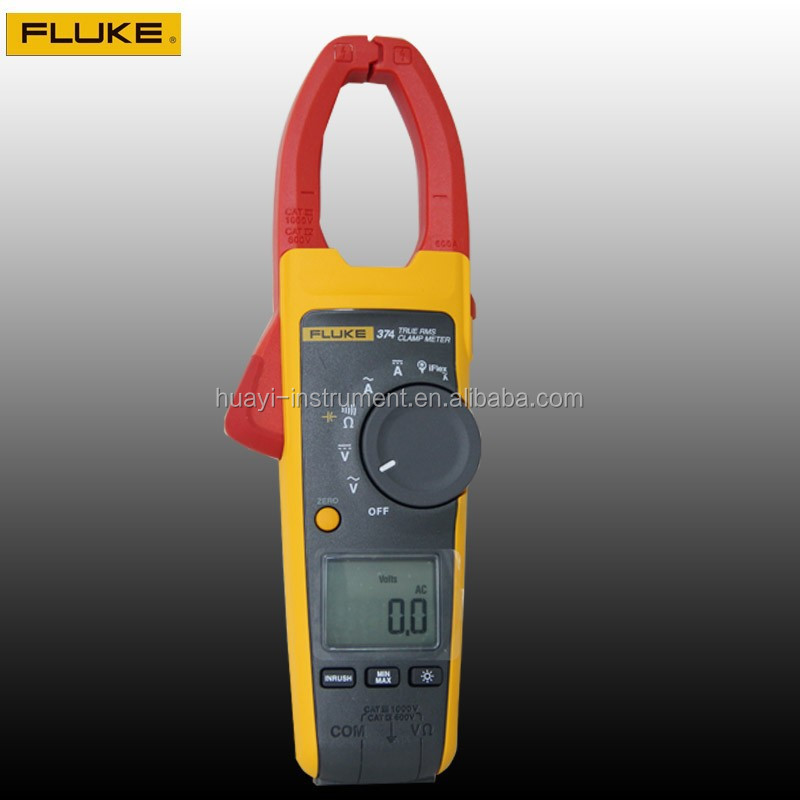 Fluke 374 True RMS AC/DC clamp meter, original F374 digital clamp meter 600A,1000V