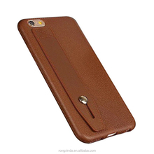 China supplier phone case for iphone 7 back cover, for iphone 7 case, PU leather case with holder create your own brand