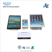 Mobile phone open display security,retail muti-port anti-theft display devices for mobile phone A36-2port