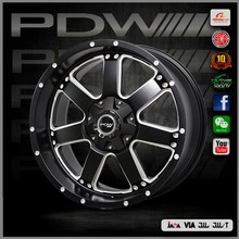 PDW aftermarket 7 spokes alloys, suv wheels 7040, size 17x9