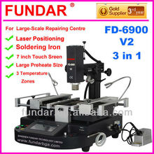Hot sale FUNDAR FD-6900 V.2 Laser Position touch screen 3temperature zones rework station bga repair