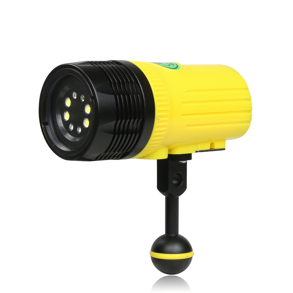 High power diving light rechargeable lithium battery LED flashlight torch 2500 lumen diving flash light