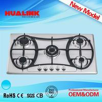 HLK1075 gas stove parts names 3 burner gas cooker with oven