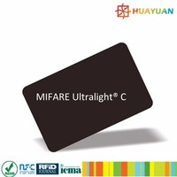 NFC forum tag type 2 compliant MIFARE Ultralight C card with varable code printing