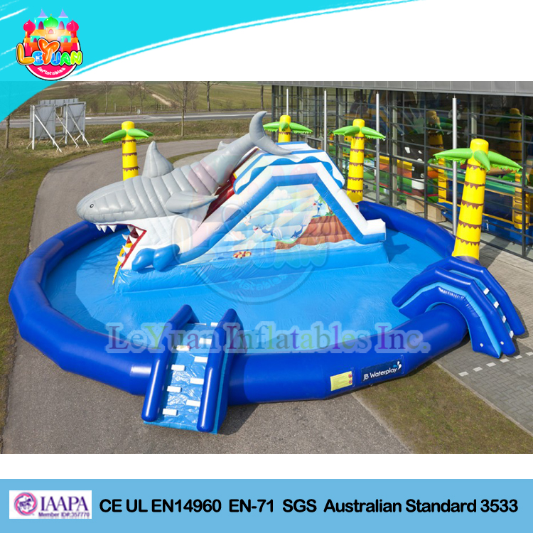 2016 Giant Inflatable shark Water Park/ floating Inflatable Waterworld/ water park supplies