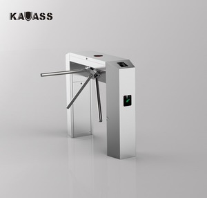 Factory Price Electrical Access Control Tripod Turnstile Rfid Security Gate With Fingerprint/Card/QR/ Barcode Reader