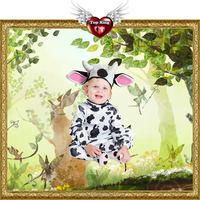 2016 New Carnival Kids Costumes Cosplay Toddler Animal Sweet Cow Costumes For Kids Baby