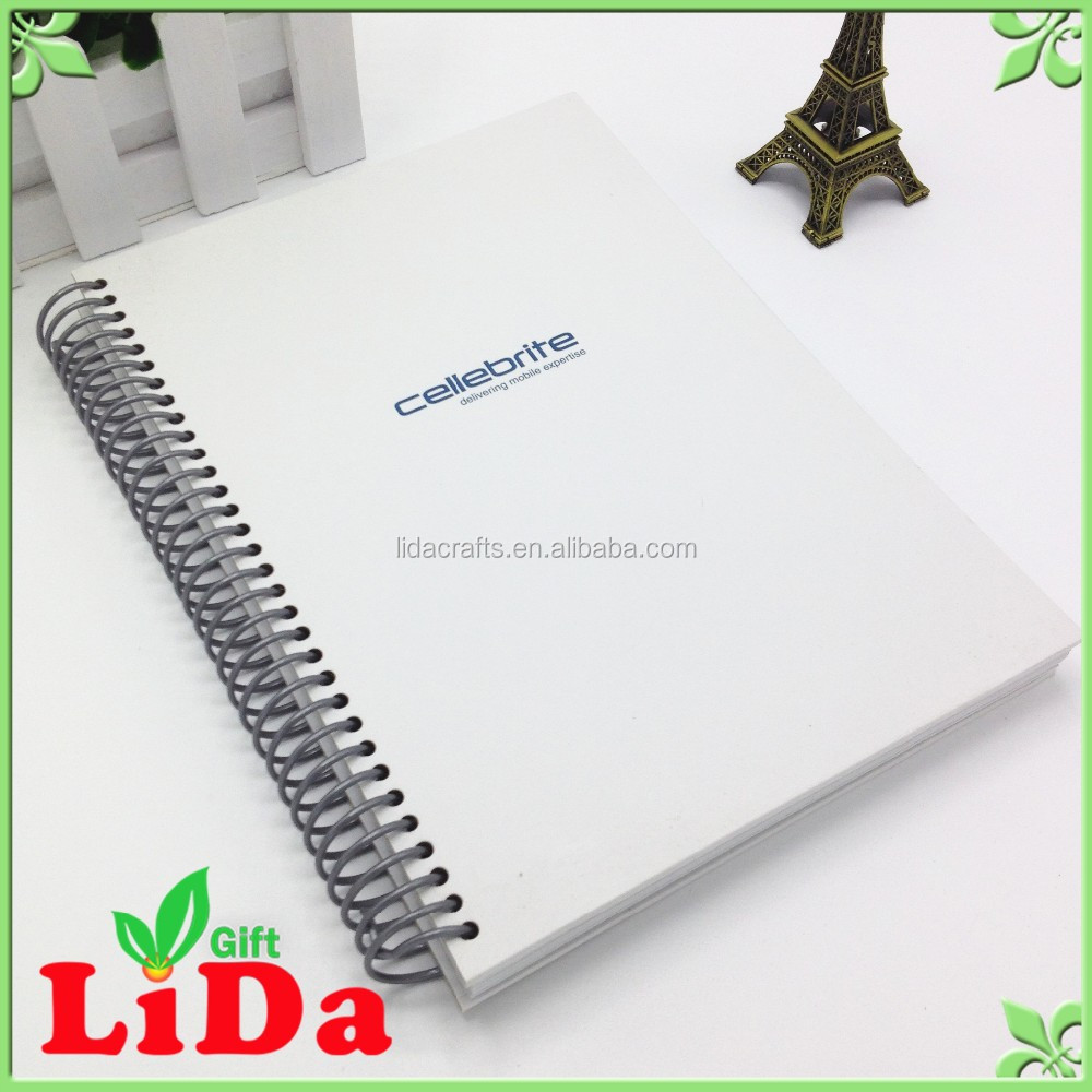 custom cute korean stationery school hardcover recycled A5 spiral notebook