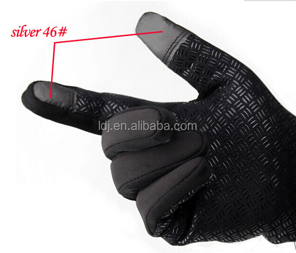 touch screen gloves silver fiber fabric