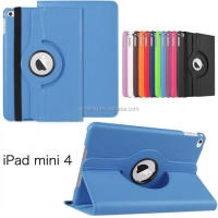 New Arrival For iPad mini 4 360 Rotating PU Leather Case