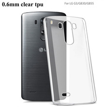 custom cute clear ultra thin silicone 0.6mm TPU mobile phone case cover for LG G3
