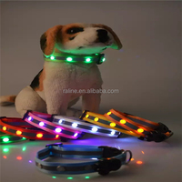 Waterproof LED Jewel Flashing Pet Dog Leash With 6 LED Light Safety Compact Two Layer Nylon Webbing TB024
