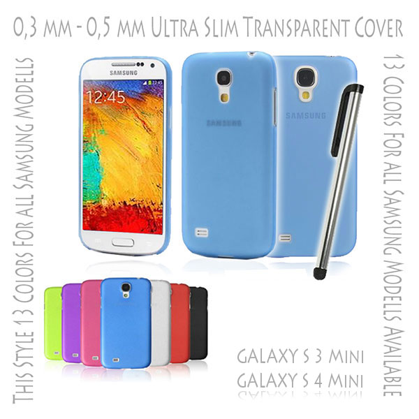 Hard Case Cover Ultra Thin Slim 0,3 mm Transparent Matte for Samsung Galaxy S3 S 3 III Mini i8190 | S4 S 4 IV Mini i9190 Blue