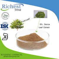 Senna Leaf Extract Powder Sennoside 8% 20%