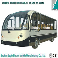 11 seater Electric enclosed sightseeing car , CE approved