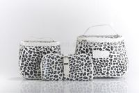 Classic Leopard Cosmetic Suit bag Three-piece