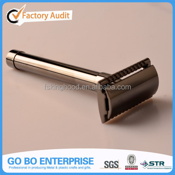 Brass Metal, Gun Metal Finish Safety Razor