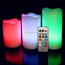 Cheap 3pcs/set color changing led candle with 18 button remote contol