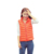 Salon Light Weight Plaid Body Fit Duck Down Quilted Gym Bike Vest Coat Suits Women