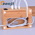 Great Useful Stuff Eco-Friendly Bamboo Multi-Device Charging Station and Dock& Docking Organizer for Multiple Electronic Devices