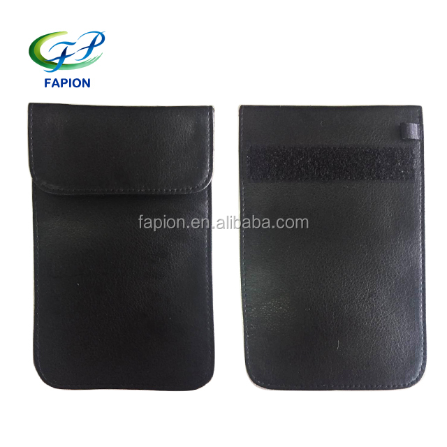 Genuine leather anti radiation shield reducer phone case