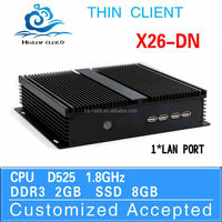 Hot on sale D525 X26-DN 2g ram 8g ssd mini pc thin client Industrial computer desktop pc support touch screen