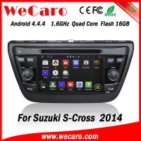 Wecaro WC-SU7058 android 4.4.4 car gps navigation for suzuki s-cross car dvd 2014 3G wifi playstore