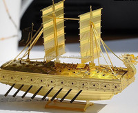 Brass Etch sailboat model Removable brass souvenirs